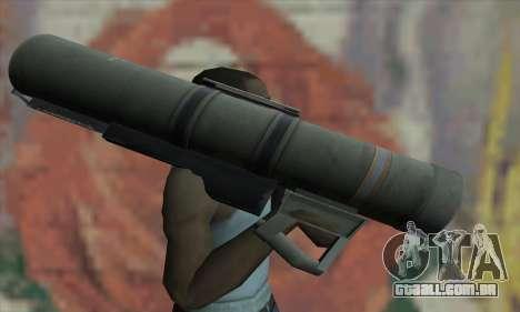 Bazooka para GTA San Andreas terceira tela