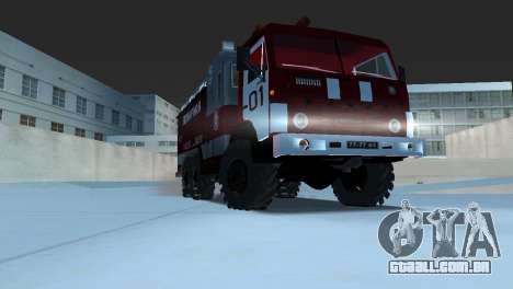 KAMAZ 43101 bombeiro para GTA Vice City vista traseira esquerda
