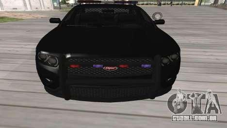 GTA V Police Cruiser para GTA San Andreas esquerda vista