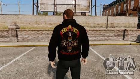 Jaqueta de couro-Guns N Roses- para GTA 4 segundo screenshot