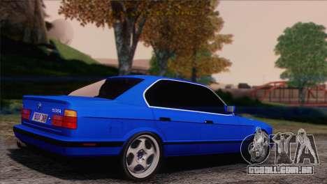 BMW 535i E34 Mafia Style para GTA San Andreas esquerda vista