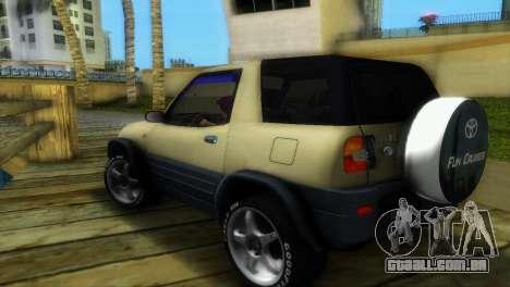 Toyota RAV 4 L 94 Fun Cruiser para GTA Vice City vista traseira