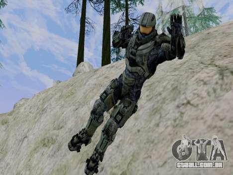 Master Chief para GTA San Andreas sexta tela