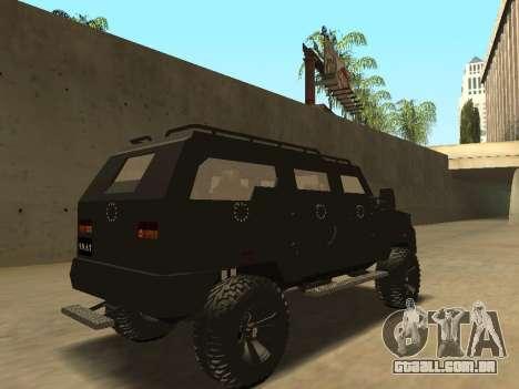 Ford Super Duty Armored para GTA San Andreas vista traseira