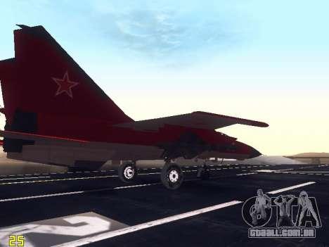 MiG-25 para vista lateral GTA San Andreas