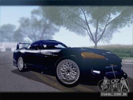 Dodge Viper Competition Coupe para GTA San Andreas traseira esquerda vista