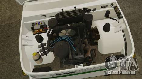Wartburg 353 W Deluxe Polizei para GTA 4 vista de volta
