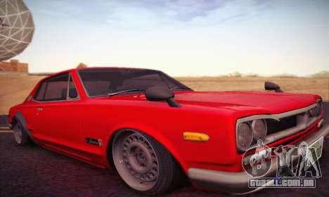 Nissan Skyline 2000GTR 1967 Hellaflush para GTA San Andreas esquerda vista