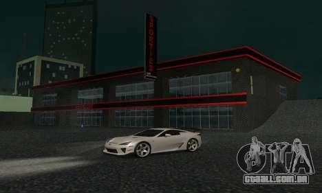 Novo showroom em Dorothi para GTA San Andreas quinto tela