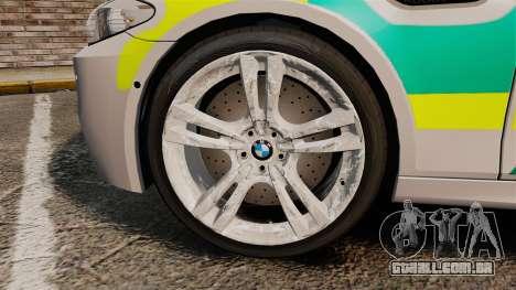 BMW M5 Ambulance [ELS] para GTA 4 vista de volta
