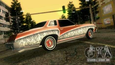 Chevy Monte Carlo Lowrider para GTA Vice City vista traseira