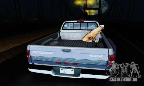 Dodge Ram 3500 para GTA San Andreas vista interior
