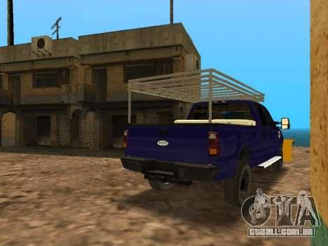 Ford F-250 para GTA San Andreas vista direita
