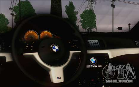 BMW M3 E46 2005 para GTA San Andreas vista interior