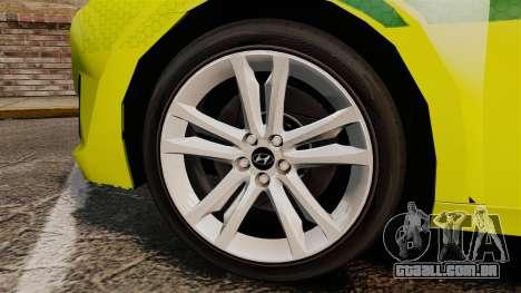 Hyundai i40 Tourer [ELS] London Ambulance para GTA 4 vista de volta