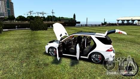Mercedes-Benz ML63 AMG para GTA 4 vista lateral