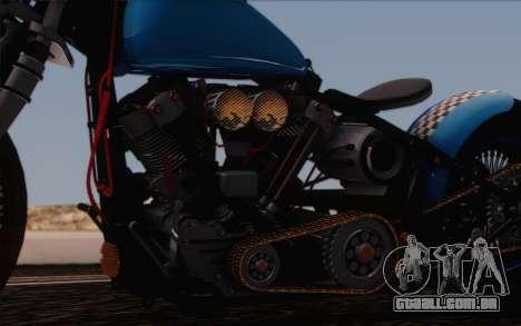 Harley-Davidson Knucklehead para GTA San Andreas vista interior