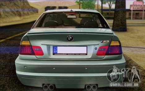 BMW M3 E46 2005 para GTA San Andreas interior
