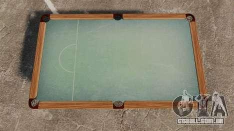 Nova mesa de bilhar para GTA 4 segundo screenshot