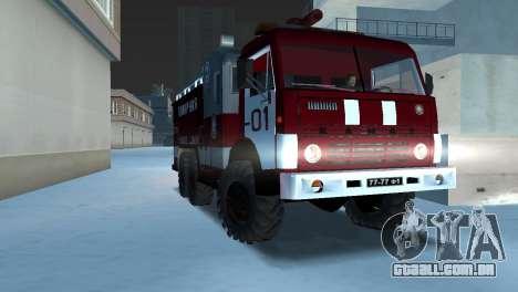 KAMAZ 43101 bombeiro para GTA Vice City