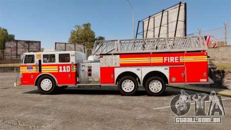 MTL Firetruck MDH1000 Midmount Ladder FDNY [ELS] para GTA 4 esquerda vista