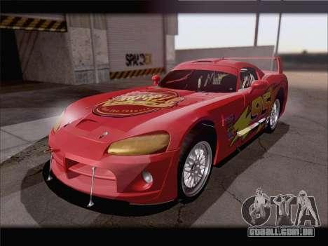 Dodge Viper Competition Coupe para GTA San Andreas vista superior