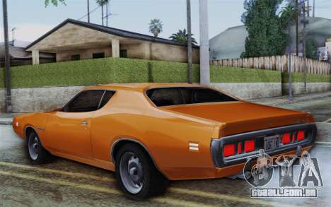 Dodge Charger 1971 Super Bee para GTA San Andreas esquerda vista