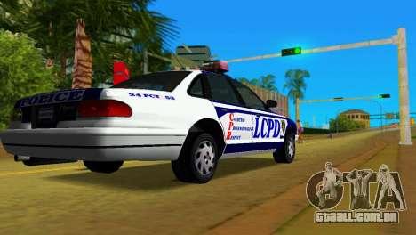 GTA IV Police Cruiser para GTA Vice City deixou vista
