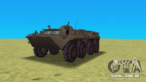 BTR-80 para GTA Vice City deixou vista