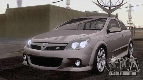 Vauxhall Astra VXR  2007 para GTA San Andreas vista interior