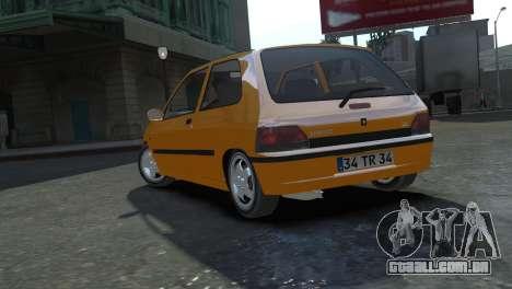 Renault Clio Williams para GTA 4 esquerda vista