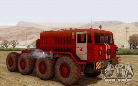 MAZ 535 bombeiro para GTA San Andreas esquerda vista