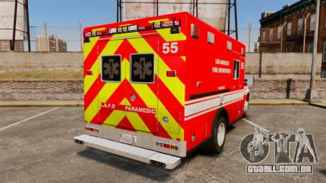 Ford E-350 LAFD Ambulance [ELS] para GTA 4 traseira esquerda vista