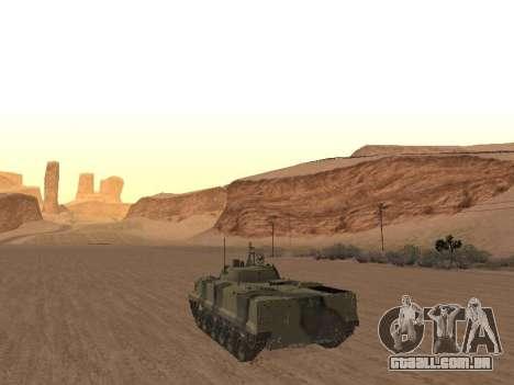 BMP-3 para GTA San Andreas traseira esquerda vista