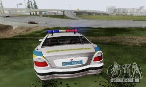 GÁS-3111 Miliciâ Ucrânia para GTA San Andreas vista traseira