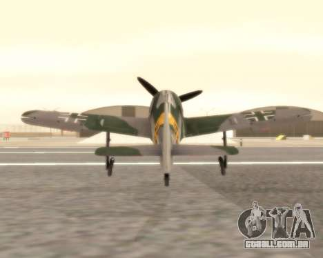 Focke-Wulf FW-190 F-8 para GTA San Andreas vista direita