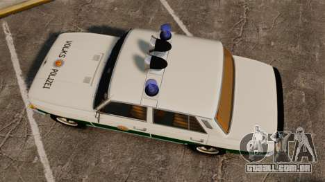 Wartburg 353 W Deluxe Polizei para GTA 4 vista direita