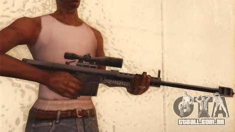 Barrett de Call of Duty MW2 para GTA San Andreas terceira tela