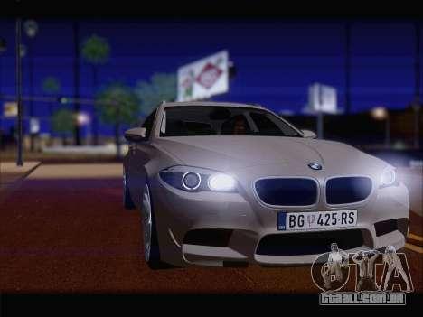 BMW M5 F11 Touring para GTA San Andreas traseira esquerda vista