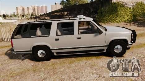 Chevrolet Suburban 1999 Police [ELS] para GTA 4 esquerda vista