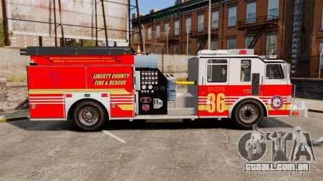 Firetruck LCFR [ELS] para GTA 4 esquerda vista