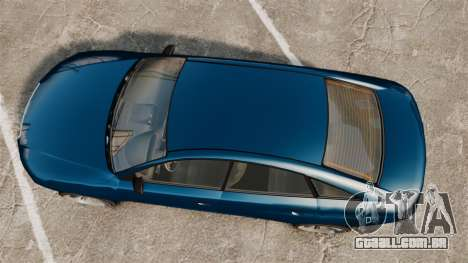 GTA V Tailgater (Michael Car) para GTA 4 vista direita