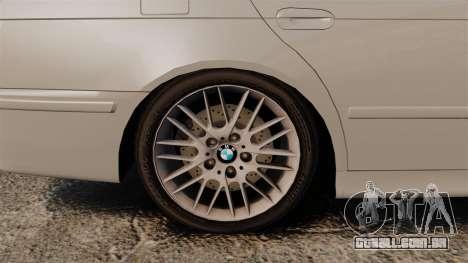 BMW 525i (E39) para GTA 4 vista de volta