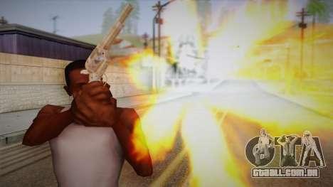 Colt Peacemaker (cromo) para GTA San Andreas terceira tela