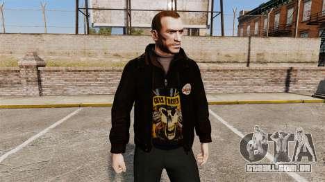 Jaqueta de couro-Guns N Roses- para GTA 4