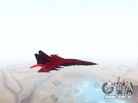 MiG-25 para GTA San Andreas esquerda vista