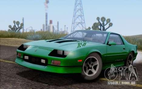 Chevrolet Camaro IROC-Z 1990 para GTA San Andreas vista traseira
