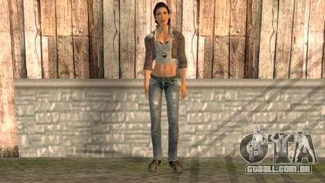 Alyx Vance de Half-Life 2 para GTA San Andreas