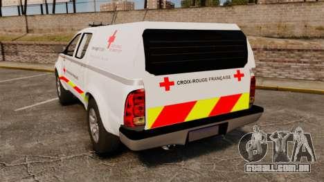 Toyota Hilux French Red Cross [ELS] para GTA 4 traseira esquerda vista
