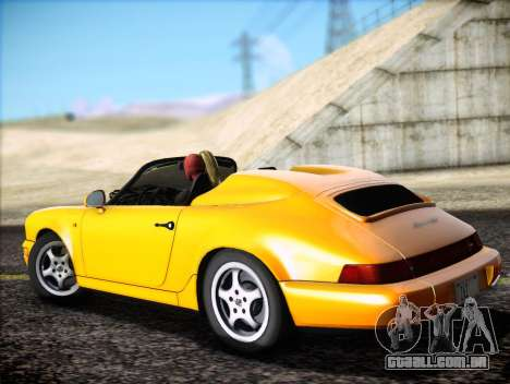 Porsche 911 Speedster Carrera 2 1992 para GTA San Andreas vista interior